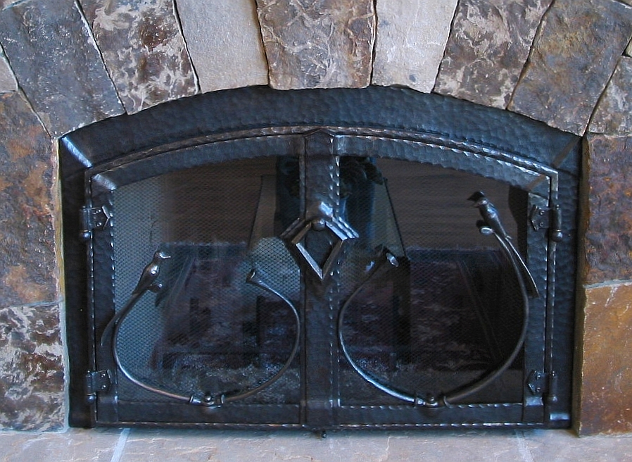 fireplace doors   accessories  ornamental ironwork by gas fireplace decorative fronts DIY Gas Fireplace Surround